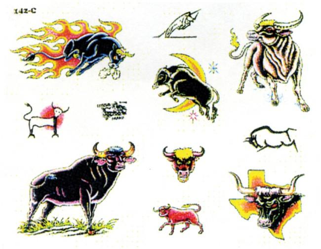 Татуировки быка