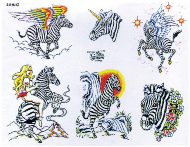 Татуировки зебры