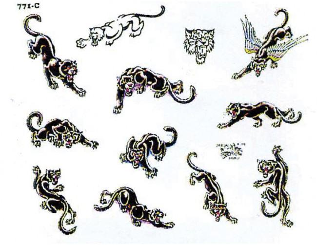 картинки тату пантера