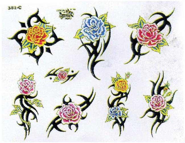 татуировки цветов картинки