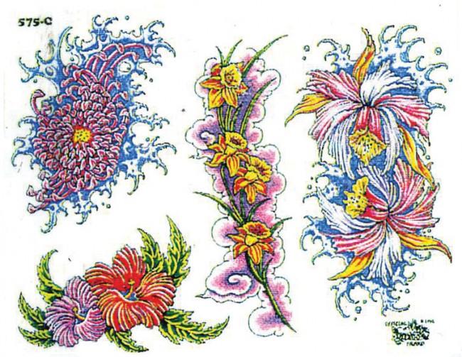 эскизы тату цветов: