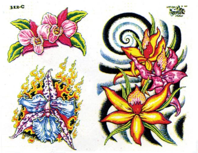 Татуировки цветов разное