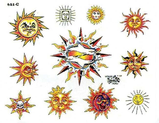тату солнце картинки