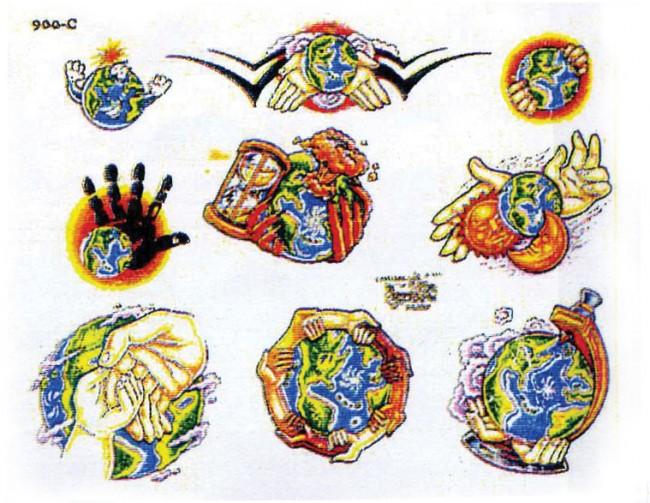 Татуировки планеты земля