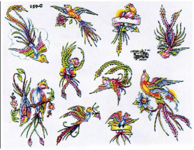 Эскизы татуировок птиц