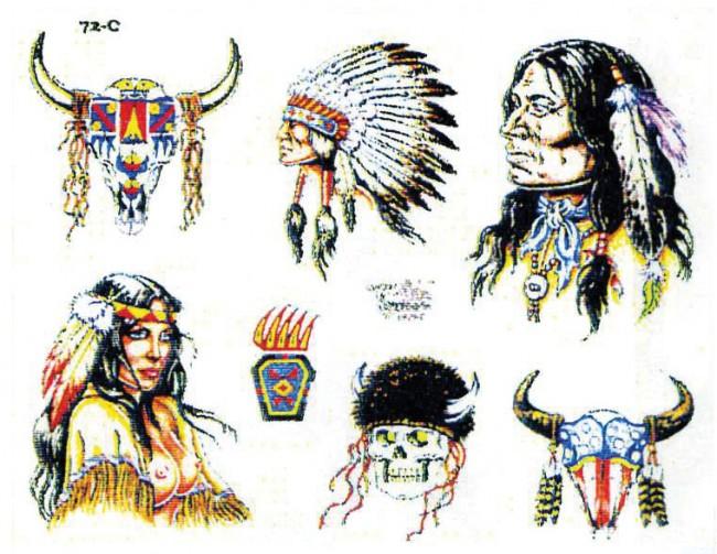 Татуировки индейцев северной америки с названиями