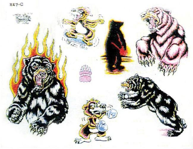 Тату салон эскизы татуировок животные