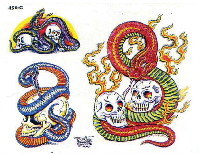 Татуировки с змеями 77
