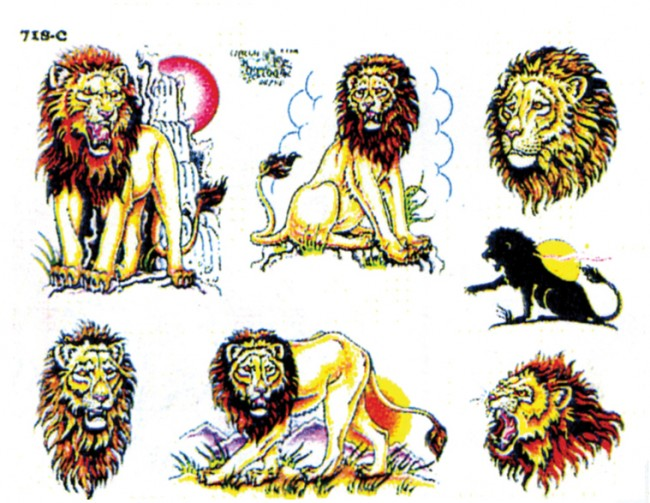 Татуировки льва