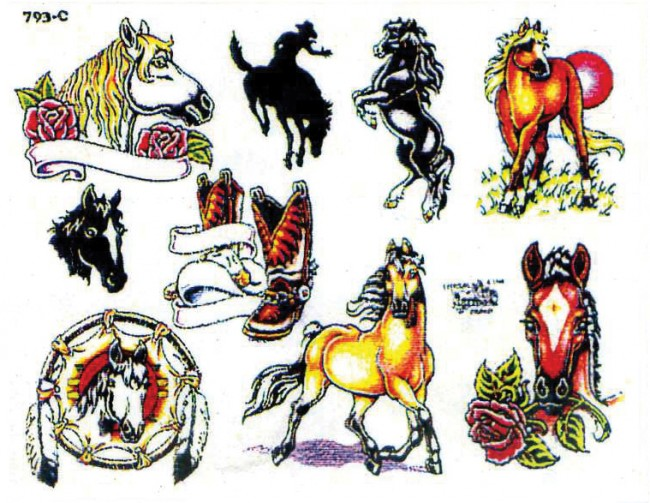 тату рисунки лошадей