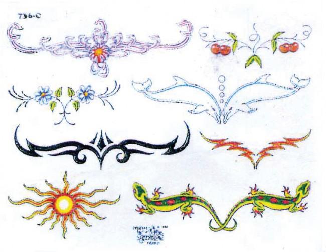 Татуировки женские узоры цветочные