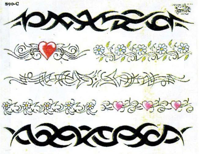 Татуировки браслеты узоры